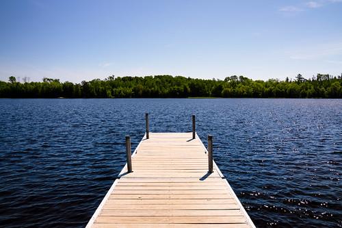 Dock on Crane Lake, Minnesota
