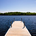 Dock on Crane Lake, Minnesota