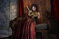 Painting of Queen Maya Tyrell (MadiSLroleplay) Tags: got game thrones sl secondlife second life roleplay rp fantasy medieval mormont blackwood tyrell hightower knight vigil