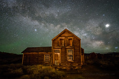 Quinnville House (Jeff Sullivan (www.JeffSullivanPhotography.com)) Tags: state historic rights reserved california park travel wild copyright usa house west abandoned nature june night lens stars landscape photography town photo nikon all ghost mining american astrophotography bodie nikkor bridgeport allrightsreserved milkyway 2019 monocounty bodiestatehistoricpark d850 jeffsullivan 1424mm quinnville workshop