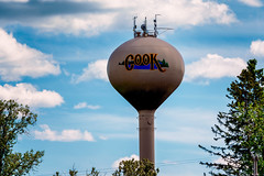 City of Cook, Minnesota - Water Tower (Tony Webster) Tags: cityofcook cook minnesota saintlouiscounty stlouiscounty antennas city town watertower unitedstatesofamerica