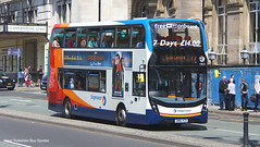 Stagecoach Merseyside SM66 VCD 10820 (WY Bus Spotter) Tags: stagecoach merseyside sm66vcd 10820 sm66 vcd west yorkshire bus spotter wybs liverpool lime street route 17 gillmoss depot beachball adl alexander dennis limited enviro400mmc enviro 400 mmc enviro400 e400 e400mmc
