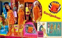 TWIGSTER (ModBarbieLover) Tags: twiggy doll mattel 1967 mod fashion toy vintage yellow orange francie