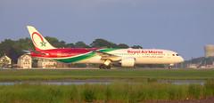 A new airline in town (NE Trains & Aviation) Tags: boeing 787 78 dreamliner b787 b789 7879 airplane boston kbos airport plane jet jetliner royal air maroc casablanca