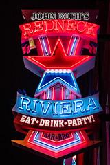 Redneck red, white and blue riviera (sniggie) Tags: johnrich nashville redneckriviera bar bbq neon neonsign signage