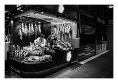 FILM - Meat (fishyfish_arcade) Tags: 35mm analogphotography bw blackwhite blackandwhite canonsureshotz135 filmphotography filmisnotdead hp5 istillshootfilm monochrome analogcamera compact film ilford mono streetphotography delicatessen meat barcelona