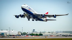 British Airways | G-CIVM | Boeing 747-436 | MIA (Terris Scott Photography) Tags: aircraft airplane aviation plane spotting nikon d750 tamron 70200mm f28 travel barbados jet jetliner british airways 747 400 744 queen skies london heathrow miami