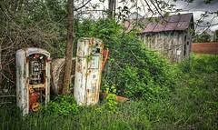 out of gas...(HSS) (BillsExplorations) Tags: gaspump abandoned abandonedillinois abandonedfarm ruraldecay rust forgotten overgrown vintage neglected hss sliderssunday savannaarmydepot