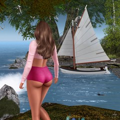 Summerfest (Algezares (III)) Tags: secondlife sexy sensual summerfest boat sailboat swimsuit maitreya mesh kaithleens