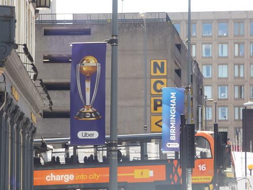 ICC Cricket World Cup 2019 - Birmingham City Centre - Station Street - NXWM Platinum in orange on the 16