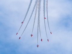 Red Arrows (Welsh Photographer) Tags: red arrows redarrows raf british jets cwl cardiffairport pentax k1 sigma 50500mm