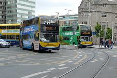 Two for the price of one... (Csalem's Lot) Tags: dublin bus dublinbus collegestreet enviro400 ev ev1 ev99 7 65b volvo