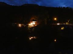 France:  St-Antonin-Noble-Val by night (ronmcbride66) Tags: nightscene stantoninnobleval aveyron lefestindubabetterestaurant bridge reflections