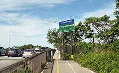 Leaving Brooklyn (neilsonabeel) Tags: nikonfm2 nikon nikkor brooklyn queens newyorkcity sign film analogue