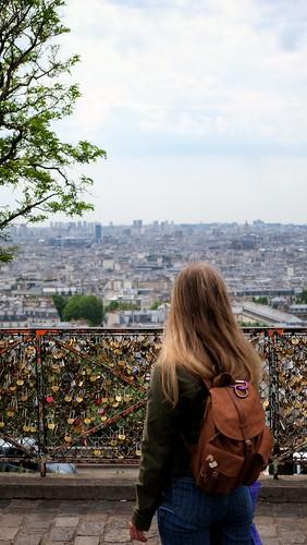 Le panorama sur Paris depuis la butte Montmartre. Sacré-Coeur.