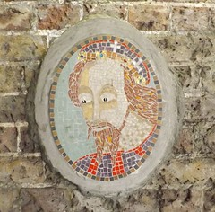 Googly-eyed mosaic (simon_white) Tags: uk london gwl guesswherelondon guessed guessedbytrailerfullofpix blackprinceroad se1 mosaic