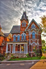 Brockville Ontario - Canada - Watkins F. Nisbet House, 1878  - Victorian Architecture (Onasill ~ Bill Badzo) Tags: counties leeds grenville watkins f nisbet house mansion building brockville on ont ontario downtown architecture style victorian secondempire onasill tower elizabethtown easternontario canada walking tour thousand islands region unitedcounties city saint lawrence river turret tourist town guided tours attractionsite tunnel mustsee victorialane hdr