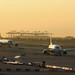 Sunrise at Barcelona airport