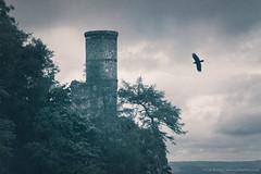 The Tower Of Kinnoull Hill (Cat Burton) Tags: catburton catburtonphotography clouds eerie fantasy kinnoulhill perth scotland tower uk atmospheric ruin perthshire photomanipulation composite photography cat burton fine art fairytale
