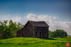 Old (Kasia Sokulska (KasiaBasic)) Tags: summer canada road trip travel nature landscape alberta prairies sky old architecture
