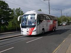 City Circle of Newbridge Scania K410EB6 Irizar i6s YT19EFO 108, in Globus Tours vinyls, at Princes Street, Edinburgh, on 29 May 2019. (Robin Dickson 1) Tags: busesedinburgh citycircle scaniak410eb6 irizari6s globustours yt19efo