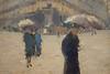 Gustave Caillebotte, Rue de Paris, oil sketch, detail (William Allen, Image Historian) Tags: france painting caillebotte paris