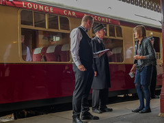 The Bluebell Line preparing the dining car. (Meon Valley Photos.) Tags: bluebell line railway steam train sussex