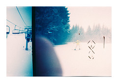I replaced the lock. But you got a real problem with that door. (jean-christophe sartoris) Tags: snow blue landscape winter feclaz sartoris analog kodak nature clouds forest ski