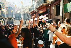 parapampam pam (Aspa Tz) Tags: street spain fallas valencia people sun spring atmosphere film analogue pentax 645 kodak ektar iso100
