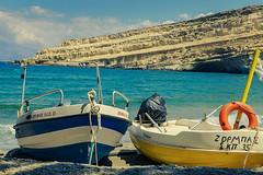 Greece 🇬🇷 (iBot7878) Tags: sea water colors boot boat nice meer kreta creta greece crete griechenland aussem matala