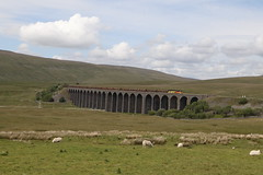 Class 70 70802 (Lorraine Greyhound) Tags: landscape railway train ribbleheadviaduct settletocarlisleline colasrail 70802