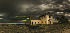 Arlington School Storm (Tom Herlyck) Tags: amazing abandoned america a7rii bigsky beautiful arlingtonschool arlingtonco colorado clouds decaying decay easterncolorado exposure flickr greatamericandesert grass highplains history image interesting landscape light neglected old outdoors outside southeastcolorado southeasterncolorado southerncolorado school usa panorama kiowacounty