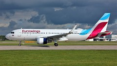 D-AEWR (AnDyMHoLdEn) Tags: eurowings a320 lufthansagroup staralliance egcc airport manchester manchesterairport 23l
