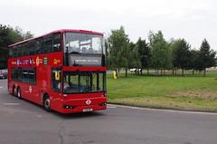 IMGP1023 (Steve Guess) Tags: brooklands byfleet surrey england gb uk bus london museum brooklandsroad wellingtondrive triaxle ta1 lx18dgf goahead bci ensignbus vantage power brooklandsdrive wellingtonroad