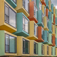 Spaceboxes - II (Paul Brouns) Tags: spacebox container containerwoningen almere flevoland perspective colors colours rhythm lines abstract architecture architectuur architektur abstractarchitecture city archive exhibition exposition commission urban geometry repetition paulbrouns paulbrounscom gemeente opdracht stadsarchief gemeentearchief