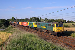 86613+86637 Red Bank 21st June 2010 (John Eyres) Tags: taken just over 9 years ago a once familiar sight along west coast mainline freightliner 86s easy catch further north daylight 8661386637 working 4m74 coatbridge crewe basford hall before it was retimed few later