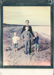 Watching aliens (Polaroid 8x10) (mmartinsson) Tags: 300mm portrait polaroidoriginals color intrepidcamera flash instantfilm schneiderkreuznach film colour ad360 analoguephotography beach godox scan largeformat 2019 epsonperfectionv700 polaroid godoxwitstroad360 8x10 bridge skånelän sverige