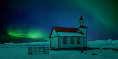 Church Aurora (paulbnashphotography (ARPS)) Tags: church aurora auroraphotography paulbnashphotography paulbnash chrches iceland icelandic stars night photography nightphotography astro astrophotography composite
