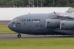03-3124 C-17A Globemaster III USAF Prestwick 15.06.19 (Robert Banks 1) Tags: 033124 boeing c17 c17a globemaster iii usaf united states air force prestwick egpk pik 437 315 aw wing amc mobility command charleston