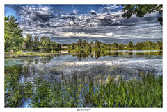 Round Pond, Nashua, NH USA (Pearce Levrais Photography) Tags: landscape lake pond plant tree forest sony hdr a7r3 sky cloud reflection outside outdoor summer summertime reed lilipad