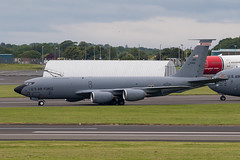 61-0309 KC-135R USAF Prestwick 15.06.19 (Robert Banks 1) Tags: 610309 10309 boeing k35r kc135r kc135 usaf united states air force prestwick egpk pik 128 arw wisconsin ang refuelling wing national guard