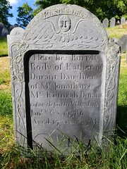 Katherine Durant died in 1786 (Pak T) Tags: oldhillburyingground cemetery grave gravestone graveyard concord massachusetts durant katherine wingedhead mementomori samsunggalaxys8