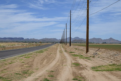 Poles Along the Road (dcnelson1898) Tags: travel vacation family driving nikon america usa arizona florence road country