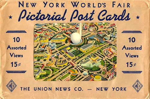 Vintage Pack Of 1939 New York World's Fair Postcards By The Union News Company Of New York, Made By Curt Teich & Company