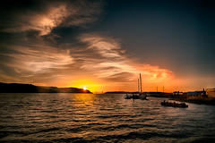 Sunset (Stefan Schafer) Tags: sunset evening color water shore sky clouds