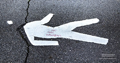 Dead Man Walking (DetroitDerek Photography ( ALL RIGHTS RESERVED )) Tags: allrightsreserved detroit 313 urban city motown michigan midwest usa america detroitderek deadmanwalking graffiti written pen red sidewalk white hdr 3exp canon 5d humor mkii digital eos motorcity june 2019