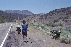 detour474 (dannondale) Tags: hitchhike bicycletouring sonora noshoulder 35mmfilm expiredfilm surly nikonf2 kodakgold grain