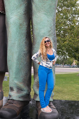She never steps on my toes when dancing... (tquist24) Tags: elkhart happybirthday indiana nikon nikond5300 outdoor wanda birthday blue city geotagged girl hair happy outside park portrait pretty sculpture smile sunglasses woman