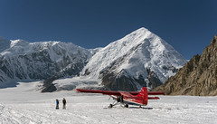 Talkeena Base Camp (lgflickr1) Tags: review alaska blue brown clear snow d750 daytime denali detail exterior mountains nikon nikkor outside people pretty rocks travel texture airplane otter vacation white summer sunny