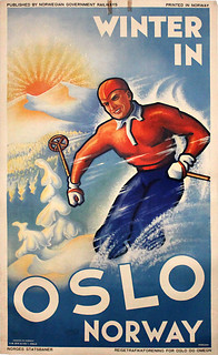 oslo.norway.winter.ski.poster